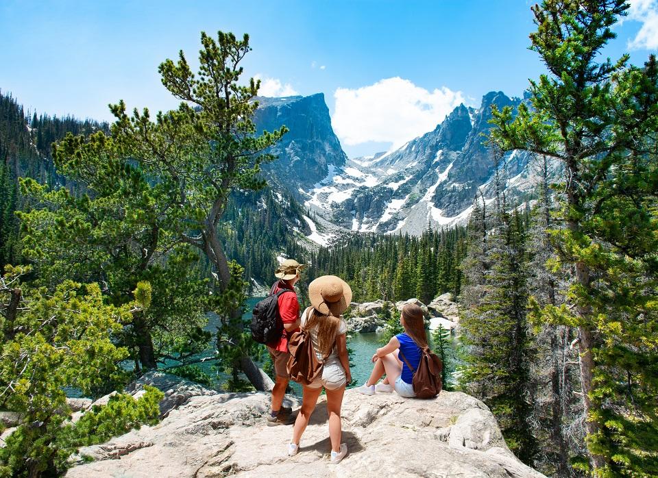 Dream Lake, Rocky Mountains National Park, Colorado, USA.